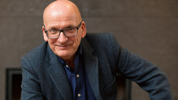 Author Roddy Doyle photographed for weekend magazine. Pic: Mark Condren