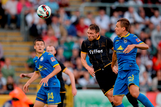 David McMillan of Dundalk scores his side's opening goal. Photo: Sportsfile