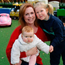 Yvonne Hogan with her daughters Ava (5) and Eloise (9 months) McCarthy at Eloise's nursery. Photo: Mark Condren