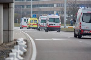 Belgian emergency vehicles arrive at the Brussels Airport in Zaventem, on March 22, 2016, after a string of explosions rocked Brussels airport and a city metro station, killing at least 21 people, as Belgium raised its terror threat to the maximum level. AFP PHOTO / THIERRY MONASSETHIERRY MONASSE/AFP/Getty Images