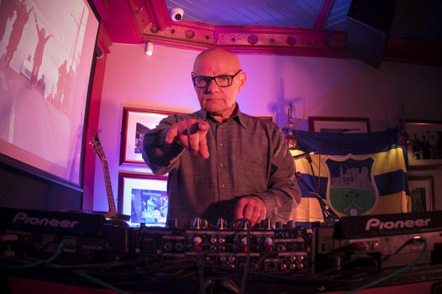 Micky Mac on the decks at the Tipp Classical 2019 launch at Ryans of Camden Street, Dublin. Photo:Michael Donnelly.