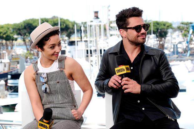 Ruth Negga and Dominic Cooper speak onstage at the #IMDboat at San Diego Comic-Con 2019: Day Two at the IMDb Yacht on July 19, 2019 in San Diego, California. (Photo by Tommaso Boddi/Getty Images for IMDb)