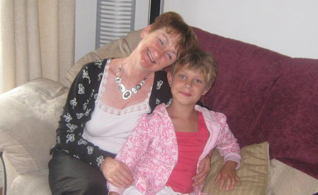 Ana with her mother