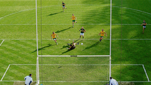 Kerry's Kieran Donaghy fires home past Paul Durcan in the 2014 All-Ireland final after the Donegal goalkeeper's decisive error gifted the Kingdom a major at Croke Park