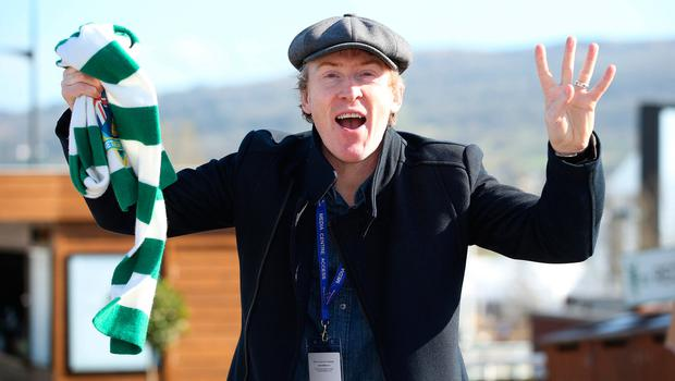 Hector Ó hEochagáin at the second day of the Cheltenham Festival. Photo: Damien Eagers