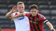 Keith Buckley of Bohemians in action against John Mountney