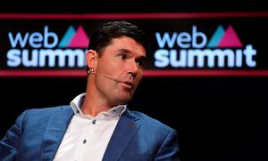 Padraig Harrington on the Sport Stage during Day 2 of the 2015 Web Summit