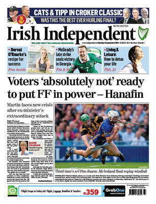 Irish Independent front page
