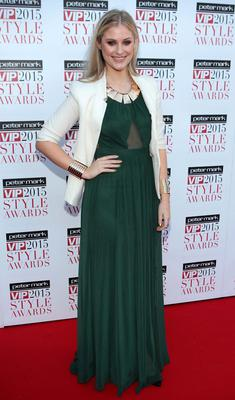 Lisa McLoughlin on the Red Carpet at The Peter Mark VIP Style Awards 2015 at The Marker Hotel,Dublin. Pictures Brian McEvoy