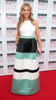 Laura Woods on the Red Carpet at The Peter Mark VIP Style Awards 2015 at The Marker Hotel,Dublin. Pictures Brian McEvoy