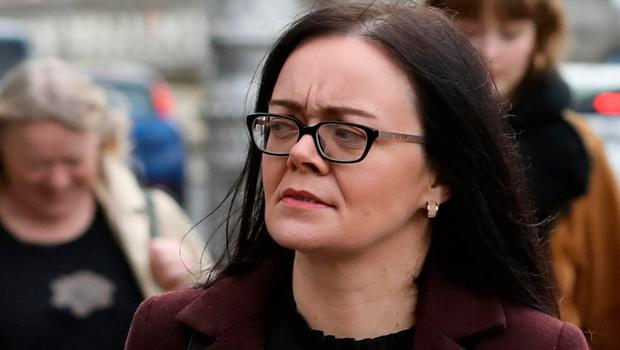 Claire McKevitt leaving court after the opening day of the High Court action. Photo: Collins Courts