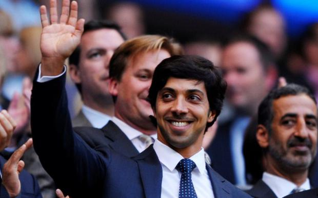 Manchester City owner Sheikh Mansour waves to supporters at his only Etihad appearance eight years ago CREDIT: ACTION IMAGES