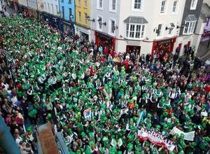 Irish image: The largest gathering of people dressed as leprechauns - 1,263 participants on March 17, 2012