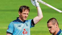 The England innings was dominated by Eoin Morgan. Photo: Stu Forster/Getty Images for ECB
