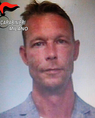 A picture taken in 2018 of Christian Brueckner, when he was arrested for drug trafficking in Italy. Photo: ITALIAN CARABINIERI PRESS OFFICE / AFP