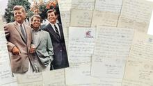 John F. Kennedy, left, Robert Kennedy, and Ted Kennedy and the new collection of letters
