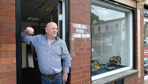 11/06/15. Richie Cullen outside the sex shop which is being renovated in Drumcondra Dublin. Pic: Justin Farrelly.