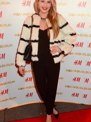 Aoibhin Garrihy at the opening of the H&M Irish flagship store in 2014