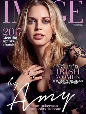 Amy Huberman covers Image Magazine's January issue