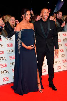 Rochelle Humes and Marvin Humes attend the National Television Awards on January 25, 2017 in London, United Kingdom.  (Photo by Anthony Harvey/Getty Images)