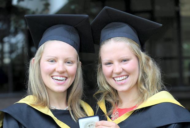 Graduating twins Linda and Lisa Bulger from Kilrane, Wexford who graduated from the University of Limerick with a BSc in Sport & Exercise Sciences.