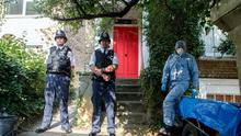 Police search outside the home of Latvian builder Arnis Zalkalns, 41, in Castlebar Road in Ealing Broadway, as detectives have revealed that the Latvian builder they are searching for in connection with the disappearance of schoolgirl Alice Gross is a convicted murderer. Photo credit: Steve Parsons/PA Wire