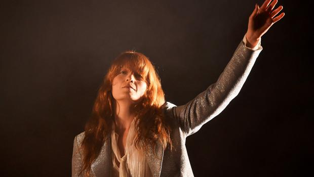 Florence Welch of Florence and the Machine performs on the Pyramid stage during the Glastonbury Festival at Worthy Farm in Somerset, Britain, June 26, 2015. REUTERS/Dylan Martinez