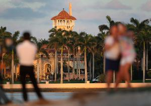 The Mar-a-Lago Resort is seen where President Donald Trump is hosting Japanese Prime Minister Shinzo Abe on February 11, 2017 in West Palm Beach, Florida. The two are scheduled to get in a game of golf as well as discuss trade issues.  (Photo by Joe Raedle/Getty Images)