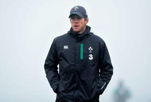 20 November 2014; Ireland assistant Simon Easterby during squad training ahead of their side's Guinness Series match against Australia on Saturday. Ireland Rugby Squad Training, Carton House, Maynooth, Co. Kildare. Picture credit: Stephen McCarthy / SPORTSFILE