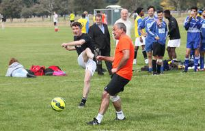 14/09/14 Cast of Love/Hate including Aidan Gillen took part in The Sport Against Racism Ireland (SARI) Soccerfest All Stars match, which is part of the 18thAnnual SARI Soccerfest Tournament which place in the Phoenix Park, Dublin this afternoon. Pic Stephen Collins/Collins Photos