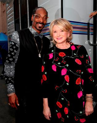 Rapper Snoop Dogg and TV personality Martha Stewart attend The Comedy Central Roast of Justin Bieber at Sony Pictures Studios