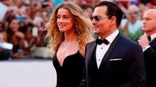 Johnny Depp and Amber Heard attend a premiere for 'Black Mass' during the 72nd Venice Film Festival at  on September 4, 2015 in Venice, Italy.  (Photo by Tristan Fewings/Getty Images)