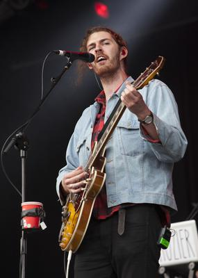Hozier on stage at Longitude 2014 in Marley Park. Photo: Tony Kinlan