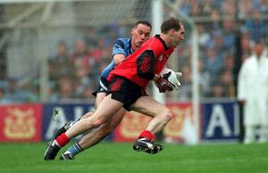Mickey Linden in action in 1994 en route to winning his second All Ireland Football Final. The legendary Down forward also won Player of the Year and collected an All-Star that season. Picture credit; Ray McManus / SPORTSFILE