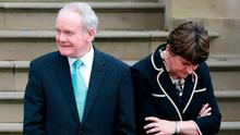 DUP First Minister Arlene Foster and her deputy, Sinn Féin's Martin McGuinness. Photo: Brian Lawless/PA Wire