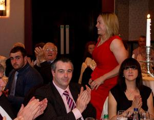 Niamh Briggs who the Womans player of the year at the Munster awards cermony. Photo: Mark Condren