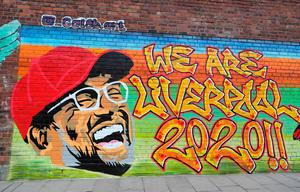 A new mural of Liverpool manager Jurgen Klopp on a wall in the Baltic Triangle area of Liverpool after the club became champions of England for the first time in 30 years. Photo: Peter Byrne/PA Wire
