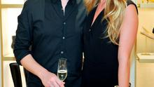 Comedian Patrick Kielty (L) and TV personality Cat Deeley