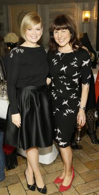 Cecelia Ahern and Tara Flynn at the Bobbi Brown Dress For Success charity lunch at Residence