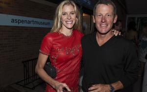 Lance Armstrong with his wife Anna Hansen Armstrong