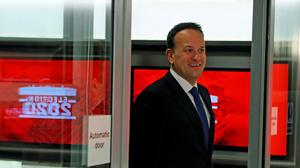 Taioseach Leo Varadkar at Virgin Media One studios, Dublin as the leaders of the two main parties in the Irish General Election go head to head in a television debate: Brian Lawless/PA Wire