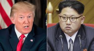 US President Donald Trump (left) and North Korean leader Kim Jong Un