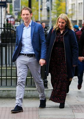Stephen Teap and Vicky Phelan arrive to hear An Taoiseach, Leo Varadkar, apologise on behalf to the State to the women and families affected by the CervicalCheck debacle at Leinster House, Dublin. Photo: Gareth Chaney/Collins