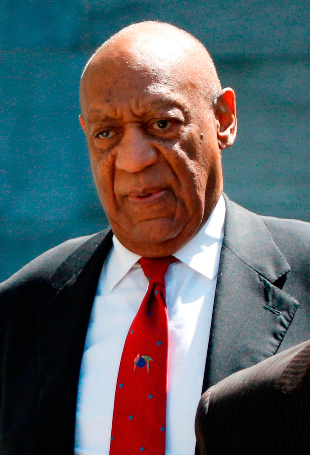 Bill Cosby leaves court after a jury convicted him in a sexual assault retrial. Photo: Reuters