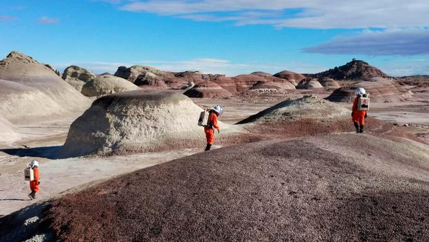 The desert location in Utah, where Galway student Ilaria Cinelli led a team of six 'astronauts' to prepare for a manned mission to Mars
