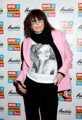Chrissie Hynde attending the NME Awards 2015 with Austin, Texas at the O2 Brixton Academy, London.