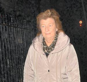 Brian O'Driscoll's mother Geradine O'Driscoll at Holles Street yesterday