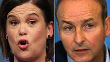 Sinn Fein's Mary Lou McDonald and Fianna Fail's Micheal Martin (Brian Lawless/Laura Hutton/PA)