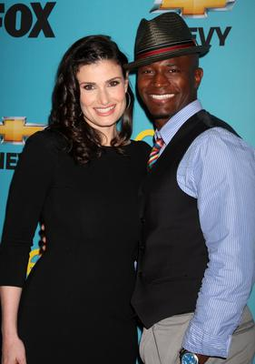 Idina Menzel and Taye Diggs in 2010