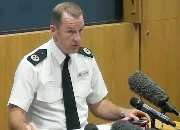 Hampshire Constabulary Assistant Chief Constable Chris Shead during a press conference as a